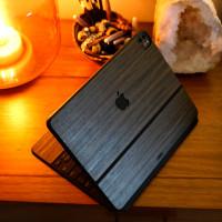 Toast wood cover for Magic Keyboard in ebony.