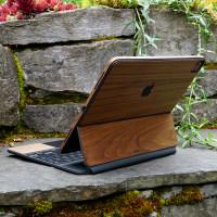 Toast wood cover for Magic Keyboard in walnut.