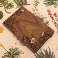 iPad Mini 5 ebony custom Toast wood cover (with Ash orchid inlays).