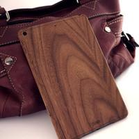 iPad Mini 5 walnut Toast wood cover.