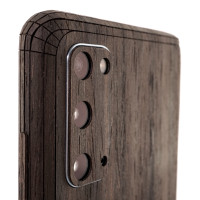 Samsung S20 with wood Toast cover in ebony.