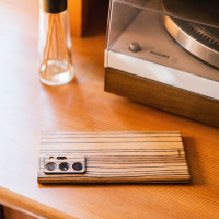 Wooden Samsung Galaxy Note 20 cover, in zebrawood.