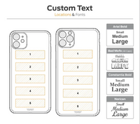 Toast iPhone custom text engraving diagram.