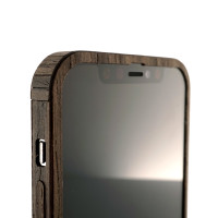 Toast wood cover to Apple iPhone 12 Pro in ebony.