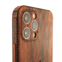 Toast wood cover to Apple iPhone 12 Pro in rosewood.