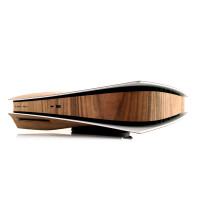 Toast wood cover for Sony Playstation 5 in walnut.