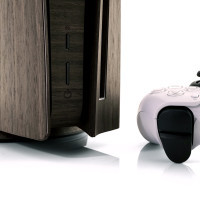Toast wood cover for Sony Playstation 5 in ebony.