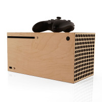 Toast wood skin for Xbox Series X in maple.