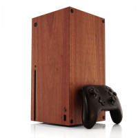 Toast wood cover for Xbox Series X in lyptus.