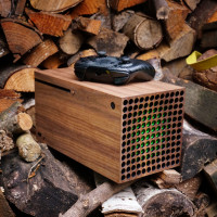 Toast walnut wood wrap for Xbox Series X.