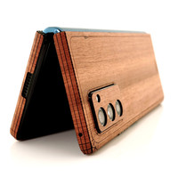 Toast wood cover wrap for Samsung Fold2, lyptus detail.