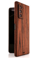 Toast wood cover for Samsung Fold2, in rosewood.