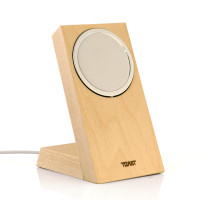 Toast real wood stand for Apple MageSafe Charger in maple.
