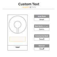Toast MagSafe stand custom text location and size.