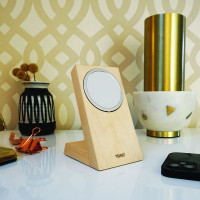 Toast real wood docking stand for Apple MageSafe Charger in maple.