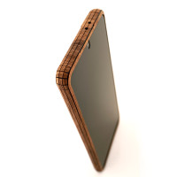 Toast wood cover for Samsung Galaxy S21, walnut front panel detail.