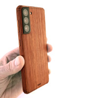 Galaxy S21 case, wood Toast cover in Lyptus.