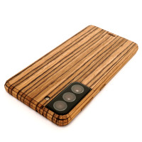 Zebrawood Toast wrap for Galaxy S21 5G smartphone by Toast.
