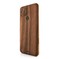 Toast wood skin for Pixel 5 in walnut.