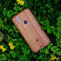 Google Pixel 5 case in real lyptus wood by Toast.