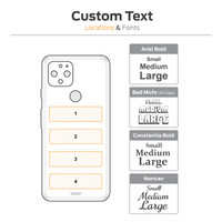 Custom text engraving on Pixel 5, locations diagram.