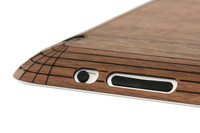 Toast wood iPad 2,3,4 cover in walnut, edge view.