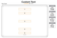 Custom text location diagram for top cover.