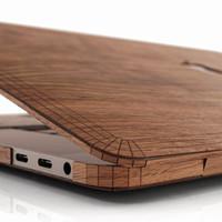 MacBook 16 Touch Bar in walnut, detail.