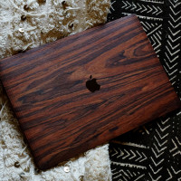 MacBook 16 Touch bar rosewood African textiles