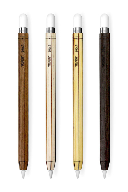 Apple Pencil wood wrap color options - Walnut, Ash, Bamboo, Ebony