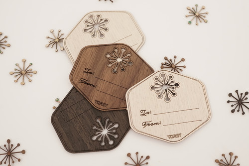 Real Wood Gift Tags (mixed set of 6)