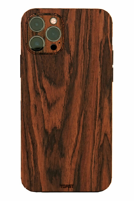 Toast wood cover for iPhone 12 mini, 12 Pro, 12 Pro Max in rosewood.