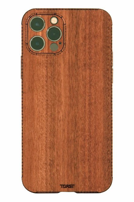 iPhone 13 Pro wood cover in Lyptus.