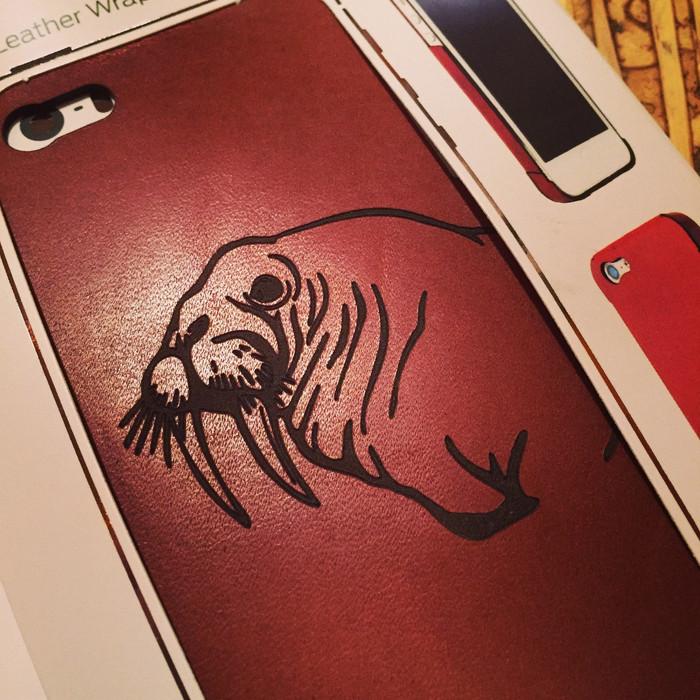Custom Leather Phone Wrap Syrah
