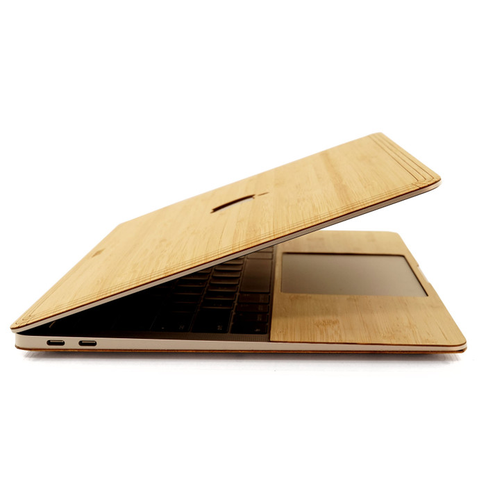 MacBook Air in Bamboo with trackpad surround.