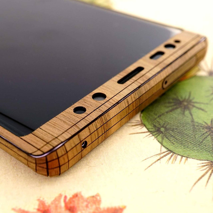d7cf98e564c Toast wood cover for Samsung Galaxy Note 9 phone. Real wood