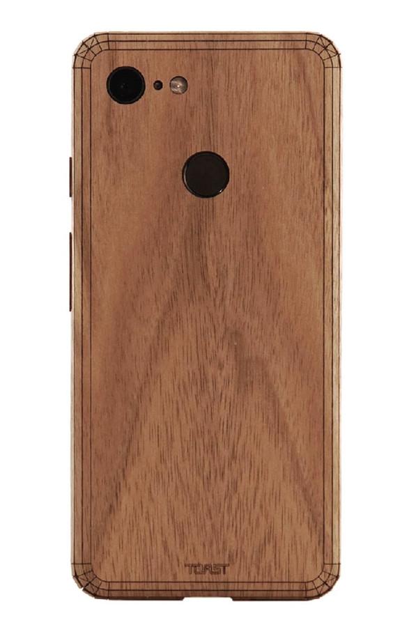Pixel 2 Toast Cover in walnut.