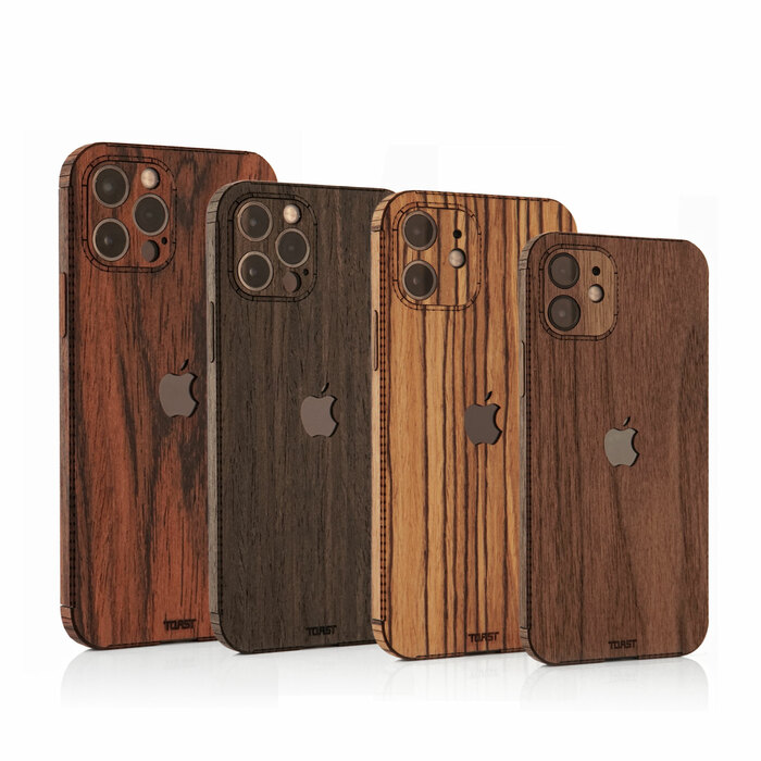 Toast wooden case for Apple iPhone 12, mini, Pro and Pro Max.