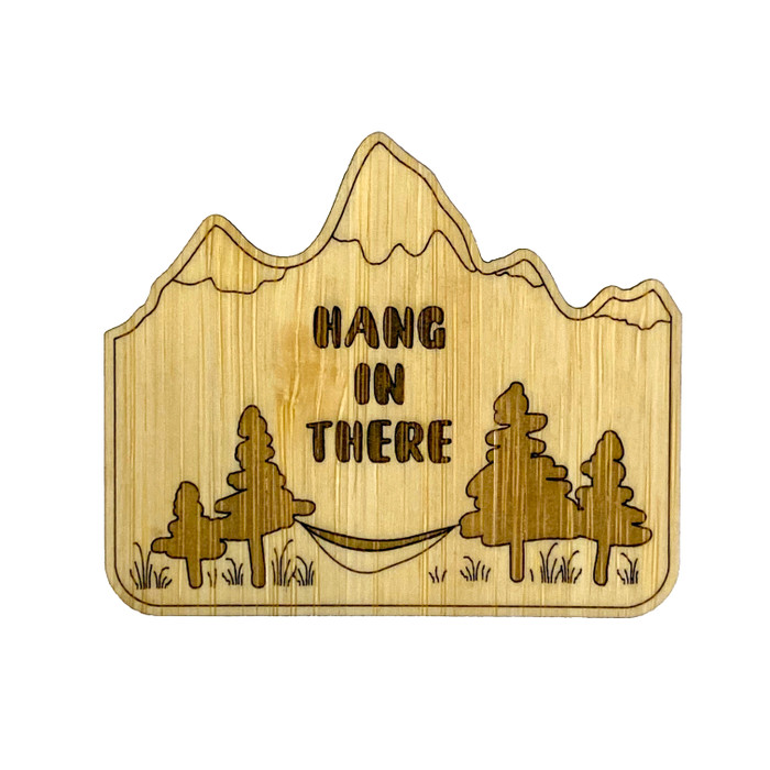Hang in There Wood Stickers (set of 2)