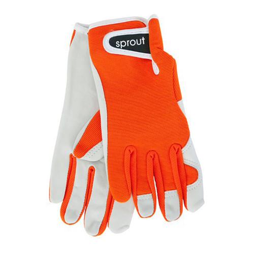 """Ladies Garden Gloves - Orange """"Soft on the Skin"""""""