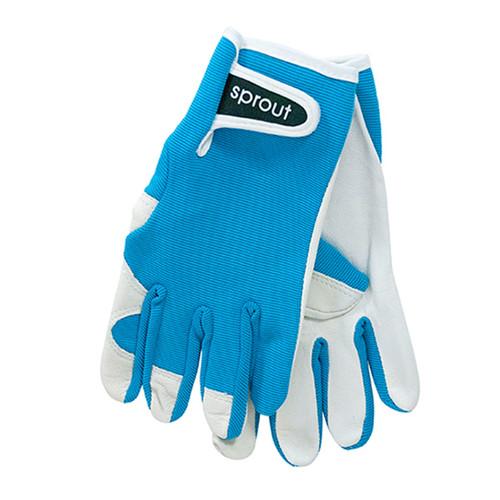 """Ladies Garden Gloves - Aqua """"Soft on the Skin"""""""