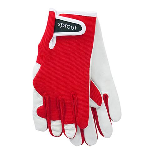 """Ladies Garden Gloves - Red """"Soft on the Skin"""""""