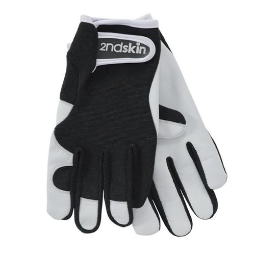 Black Genuine goatskin, Adjustable wrist strap, Gloves stretch for comfort