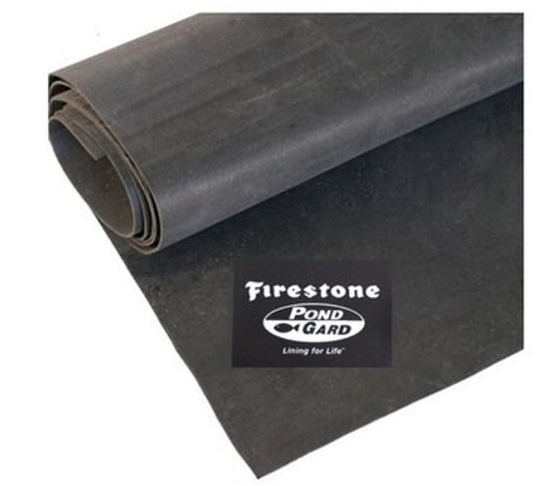 7.62m wide Firestone Pondgard EPDM pond liner 1.02mm     Cut to size per mtr