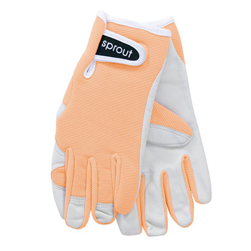 """Ladies Sprout Garden Gloves - Apricot Wash """"Soft on the Skin"""""""