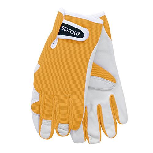 """Ladies Sprout Garden Gloves - Mustard """"Soft on the Skin"""""""