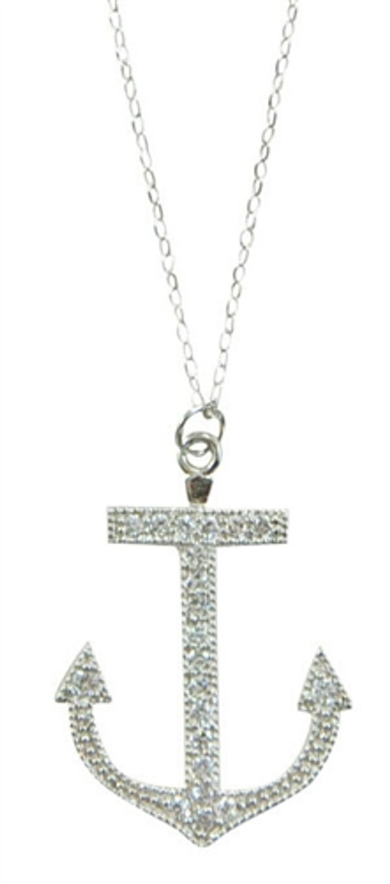Delicate Silver Anchor Charm Necklace