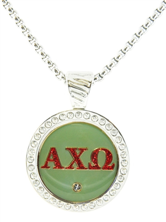 Chameleon Magnetic Necklace with Interchangeable Ball Marker Alpha Chi Omega Green