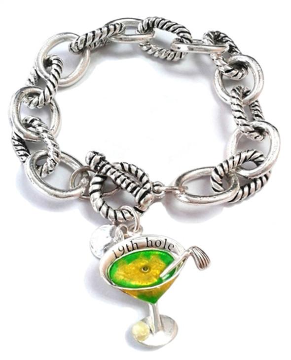 19th Hole Silver Link Bracelet
