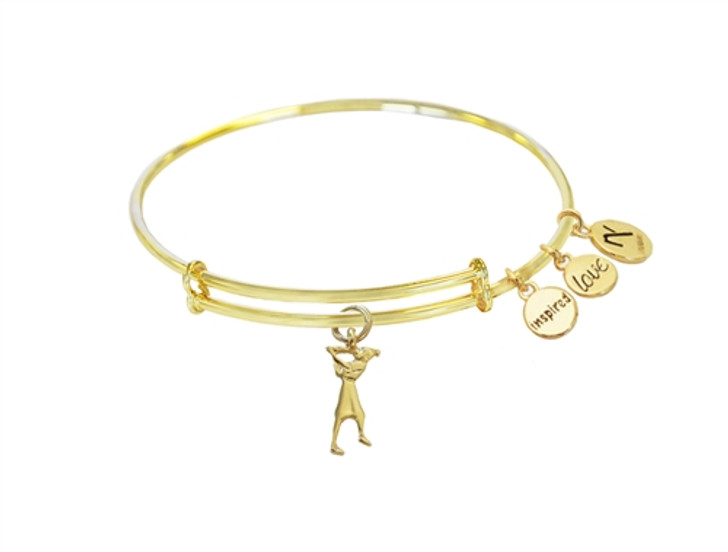 Gold Lady Swing Charm Inspired Love Bangle
